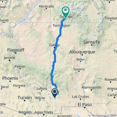 Simpson St, Lordsburg to 949 E Second Ave, Durango