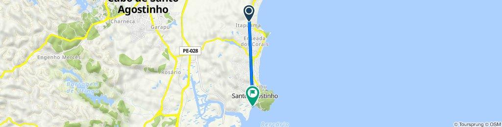 De Rua Dezessete, Cabo de Santo Agostinho a Rua da Praia, 69, Cabo de Santo Agostinho