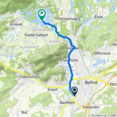 Itinéraire à partir de Champ Varteau, Bavilliers