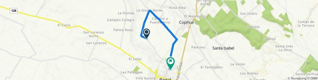 De Cruce L-630 (Acceso Cementerio) - La Gloria, Parral a Pasaje 6, Parral
