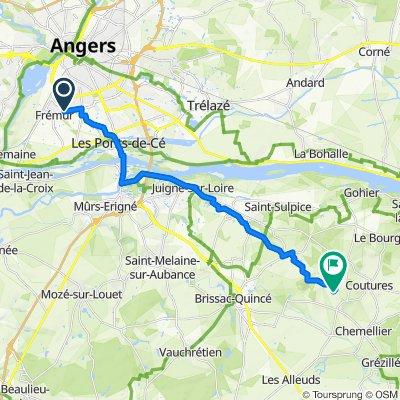 De 13 Square du Chèvrefeuille, Angers à La Sublerie, Charcé-Saint-Ellier-sur-Aubance
