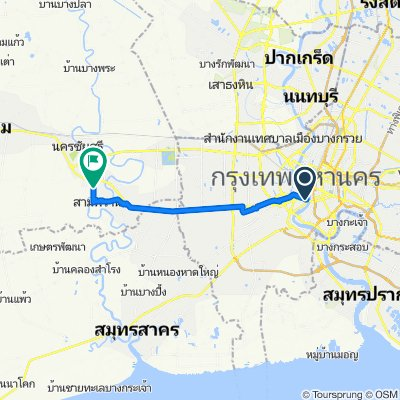 Route from 291/6 Thanon Krung Thon Buri, Bangkok
