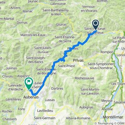 De Saint-Fortunat-sur-Eyrieux à Ucel
