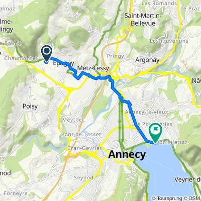 De Route des Prés Rollier 470, Sillingy à Avenue du Petit Port 6, Annecy-le-Vieux