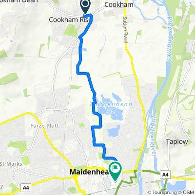 Brendon, Station Road, Maidenhead to Enavant House, Reform Road, Maidenhead