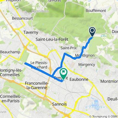 De Route Forestière du Pont d'Enghein à la Croix Blanche, Montlignon à 5 Rue de la Réunion, Ermont