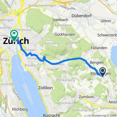 Im Grossacher 7, Maur to Bahnhofstrasse 102, Zürich