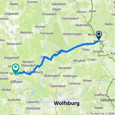 Route von Mühlenstraße 7, Brome