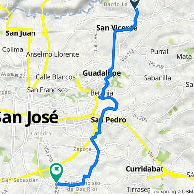 De A vei 79, San Vicente a Periferica, San Francisco de Dos Rios