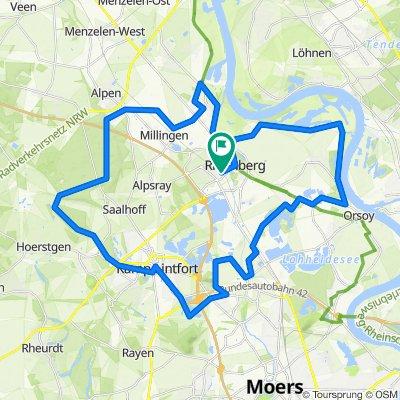 Tour 9 - Stadt, Land, Kloster von Rheinberg über Kamp-Lintfort
