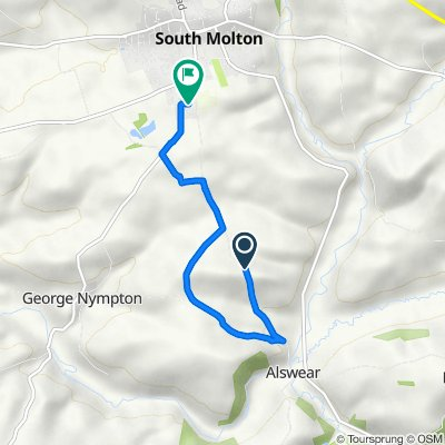 Route to Crossland, Georgenympton Road, South Molton