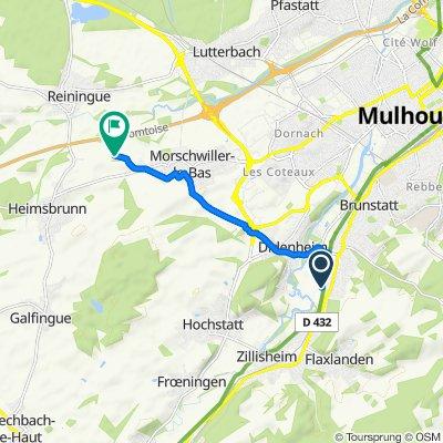 De Chemin du Kaerlisweg, Brunstatt à Chemin de Reiningue, Morschwiller-le-Bas