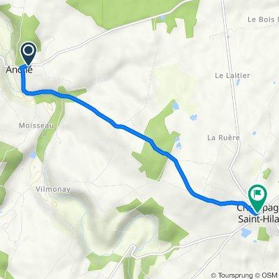 De Rue du Rivaud 7, Anché à Rue de la Carliere 5112B, Champagné-Saint-Hilaire
