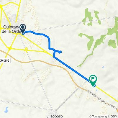 De Calle de Víctor M. Fernández Serrano, 11, Quintanar de la Orden a Camino a los Hinojosos, El Toboso