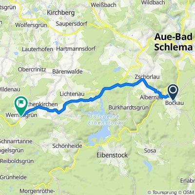 Schneeberger Straße 59C, Bockau nach B169 62, Steinberg