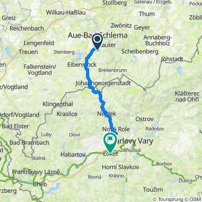 Schneeberger Straße 59C, Bockau nach Tomáše Garrigue Masaryka 56, Loket