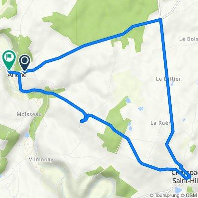 De Rue du Rivaud 7, Anché à Route du Pont 22, Anché