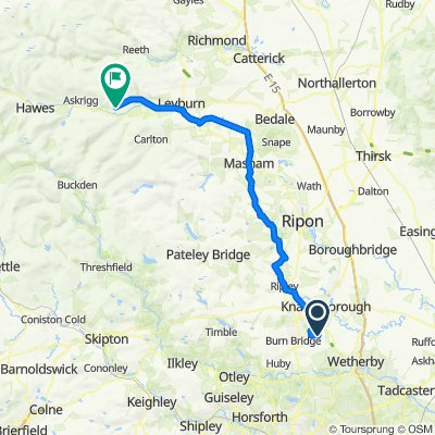 4 Pellentine Road, Harrogate to Ellerlands Cottage, Main St, Leyburn