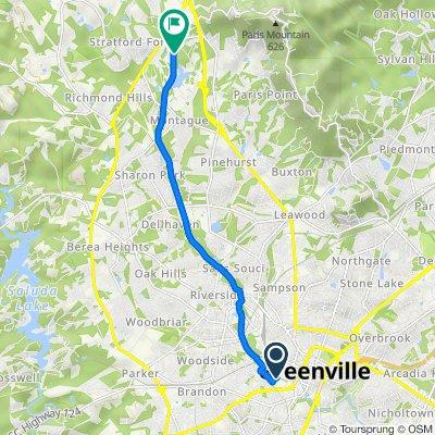 424 Westfield St, Greenville to Swamp Rabbit Trail, Greenville