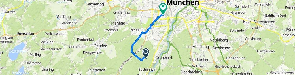 Route nach Albert-Roßhaupter-Straße 72, München
