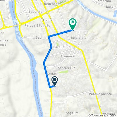 De Quadra A 1330 a Rua Ivan Tito de Oliveira 2556