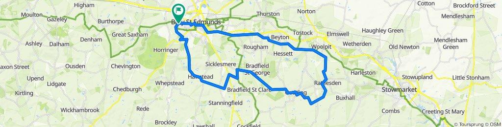 Rattlesden Loop 27.8 miles