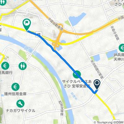 4, 宝塚市 to 3丁目 2, 宝塚市