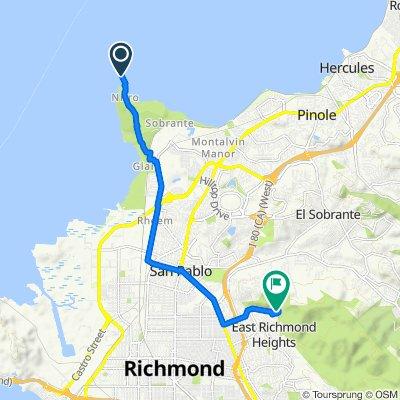 Route to 6151 Park Ave, Richmond