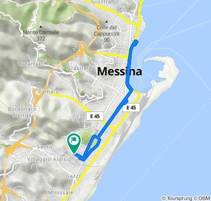 Da Via Cherubini 28, Messina a Via Cherubini 28, Messina