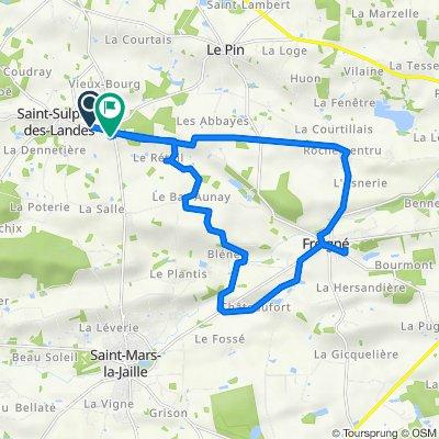 De Saint-Pierre, Vallons-de-L'Erdre à La Gerardière, Vallons-de-L'Erdre