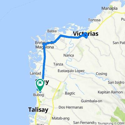 Buenavista Subd, Silay City to Victorias City to Buenavista Subd, Silay City