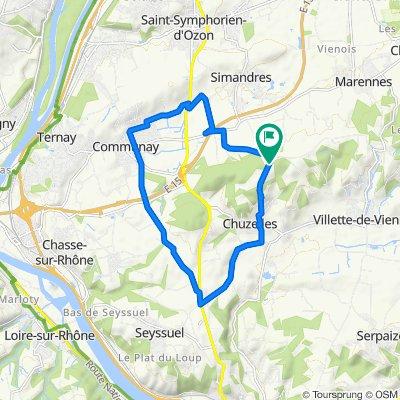 De 1549–1565 Route de Simandres, Chuzelles à 1470 Route de Simandres, Simandres