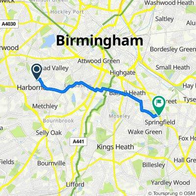 5 Gordon Road, Birmingham to 667 Stratford Road, Birmingham