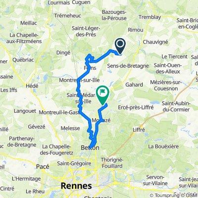De D794, Saint-Rémy-du-Plain à Boulevard du Stade, Saint-Aubin-d'Aubigné