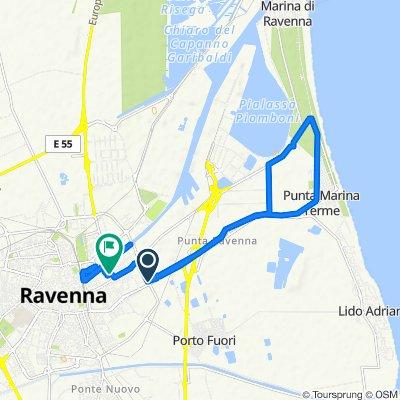 Da Viale Europa, Ravenna a Via Adria 8, Ravenna
