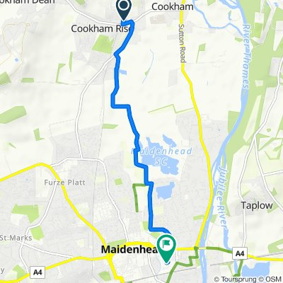 Brean, Station Road, Maidenhead to Dawkes Music Co Ltd, Reform Road, Maidenhead