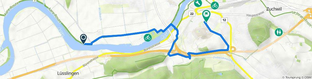 Route nach Schöngrünstrasse 29, Solothurn