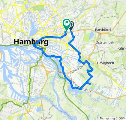 Oktaviostraße 51, Hamburg nach Nöpps 35, Hamburg