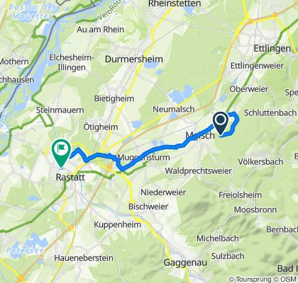 Glasbacher Weg, Malsch nach Zeughausstraße 3, Rastatt