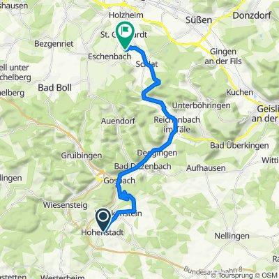 Kronengasse 4, Hohenstadt nach Birkenholz 15, Göppingen