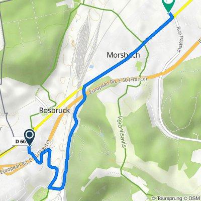 De 8 Rue de la Mairie, Rosbruck à 7 Impasse du Lavoir, Morsbach