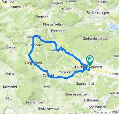 Seminarstraße 13, Hildburghausen nach Unteres Kleinodsfeld 17, Hildburghausen