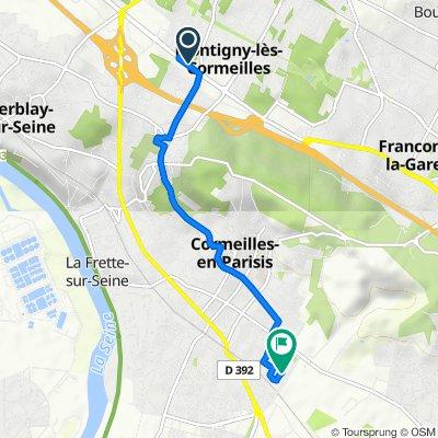 De 116 Boulevard Victor Bordier, Montigny-lès-Cormeilles à 14 Rue des Quinze Cornets, Cormeilles-en-Parisis