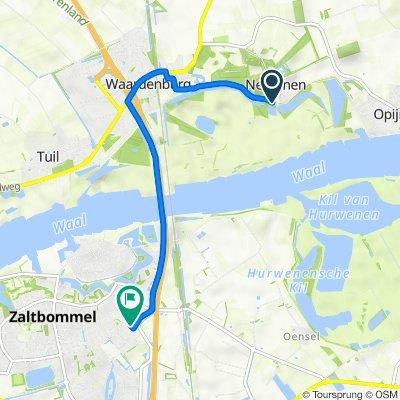 Waalbandijk 15–17, Neerijnen naar P.J. Troelstrastraat 3–27, Zaltbommel