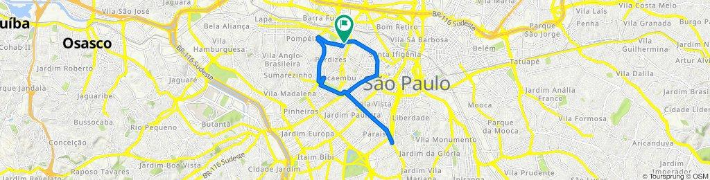 De Avenida General Olímpio da Silveira 687 a Rua Cardoso de Almeida 67