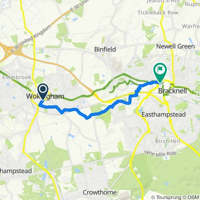 Wokingham to Bracknell