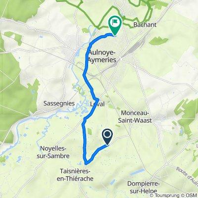 De 147 Ferme du Bois, Dompierre-sur-Helpe à 16 Chemin de Bachant, Aulnoye-Aymeries