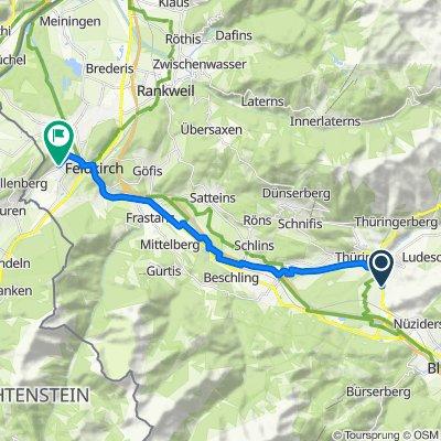 Walgaustraße 139, Ludesch nach Egelseestraße 60, Feldkirch