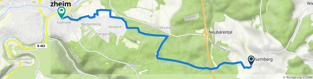 Gartenstraße 28–38, Wurmberg nach Humboldtstraße 62, Pforzheim