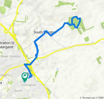 8 Linnetsdene, Swindon to 17 Ravenscroft, Swindon